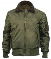 Бомбер Top Gun B-15 Men's Heavy Duty Vintage Flight Bomber Jacket Olive