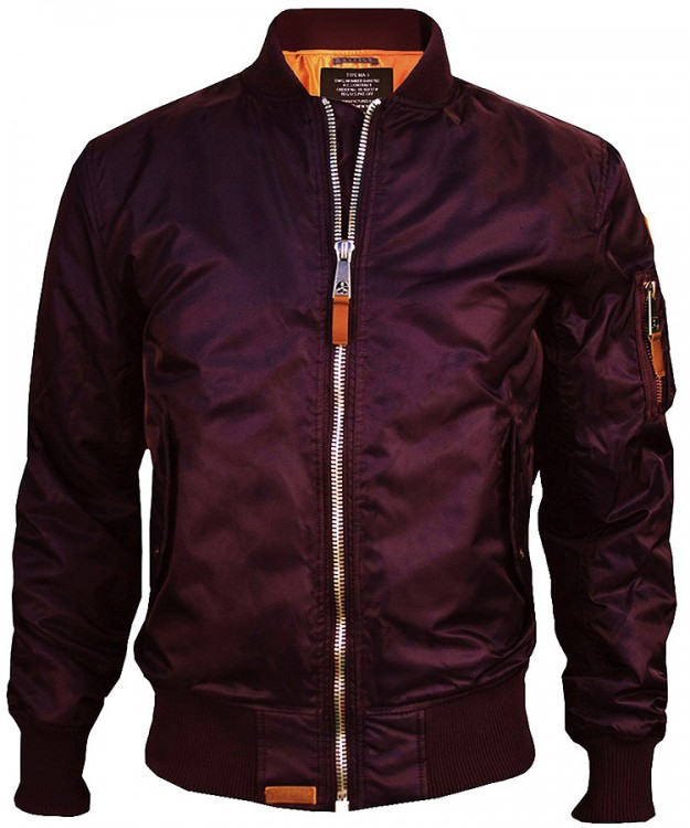 Бомбер Top Gun MA-1 Bomber Jacket Burgundy