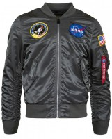Вітровка L-2B NASA Flight Jacket Alpha Industries Gun Metal