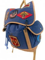 Рюкзак Top Gun Canvas Backpack With Patches Navy