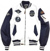 Бомбер Top Gun MA-1 Color Block Bomber Jacket White