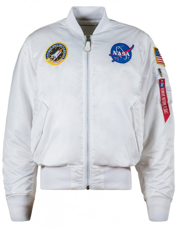 Льотна куртка NASA MA-1 Flight Jacket Alpha Industries White