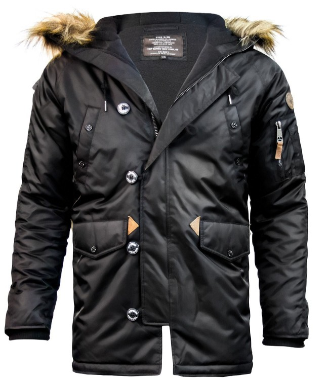 Куртка аляска Top Gun N-3B Parka Black