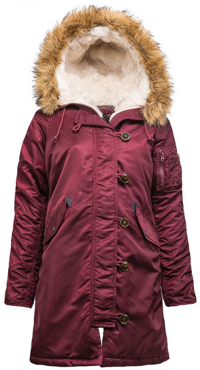 Куртка Elyse Parka Alpha Industries Dark Burgundy