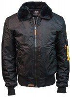 Бомбер Top Gun B-15 Men's Heavy Duty Vintage Flight Bomber Jacket Black