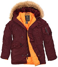 Куртка аляска Slim Fit N-3B Parka Alpha Industries Maroon