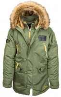 Куртка аляска N-3B Inclement Parka Alpha Industries Olive