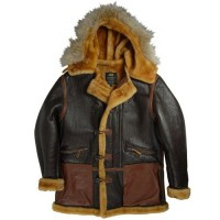 Куртка B-7 Vintage Sheepskin Parka Alpha Industries Brown