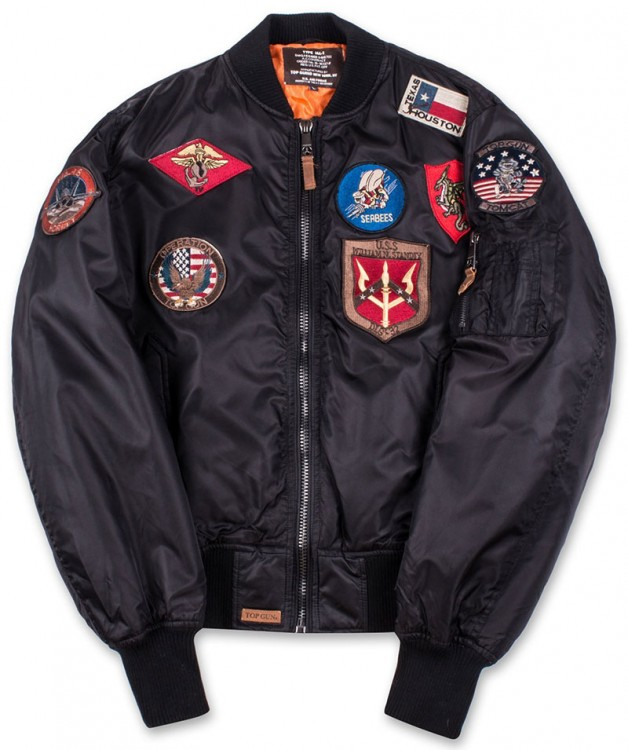 Бомбер Top Gun MA-1 Nylon Bomber Jacket with Patches Black