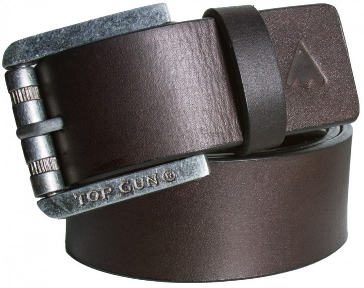 Шкіряний ремінь Top Gun Black Leather Belt Brown