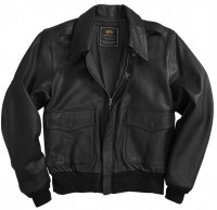 Куртка A-2 Goatskin Leather Jacket Black