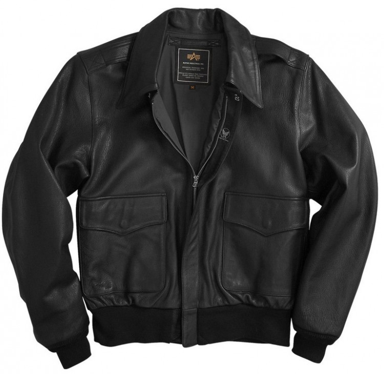 Шкіряна куртка A-2 Goatskin Leather Jacket Black
