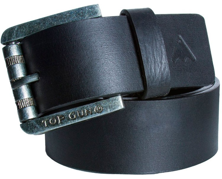 Шкіряний ремінь Top Gun Black Leather Belt (чорний) купить в ... 898383edf03b1