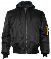 Куртка Top Gun MA-1 Nylon Bomber jacket with hoodie Black