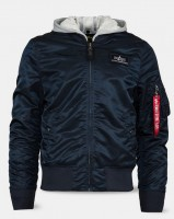 Вітровка L-2B Hooded Flight Jacket Alpha Industries (синя)