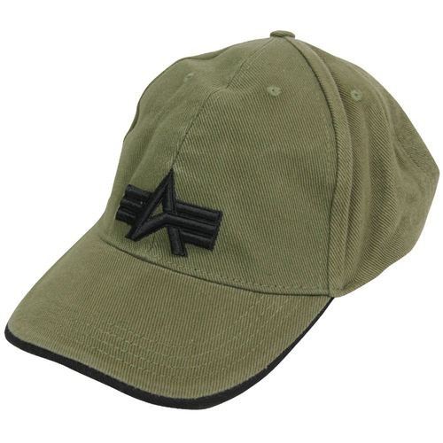 Кепка Alpha Industries Big A Cap (оливкова)