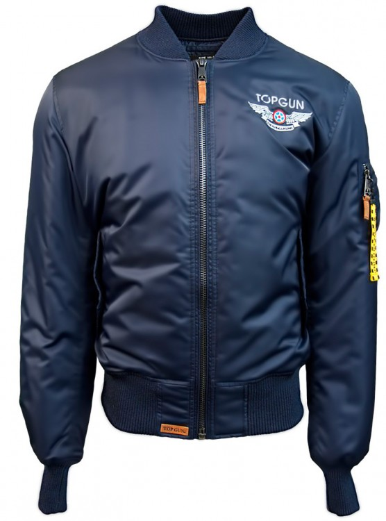 "Куртка Top Gun Official MA-1 ""WINGS"" Bomber Jacket With Patches Blue"