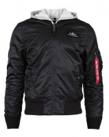 Вітровка L-2B Hooded Flight Jacket Alpha Industries (чорна)