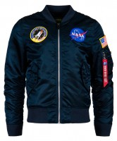 Вітровка L-2B NASA Flight Jacket Alpha Industries (синя)