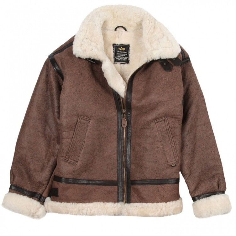 Куртка B-3 Sherpa Alpha Industries Brown