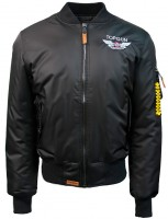 "Куртка Top Gun Official MA-1 ""WINGS"" Bomber Jacket With Patches Black"