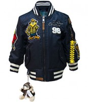 Дитяча льотна куртка Kid's MA-1 Champs Bomber with hoodie Navy