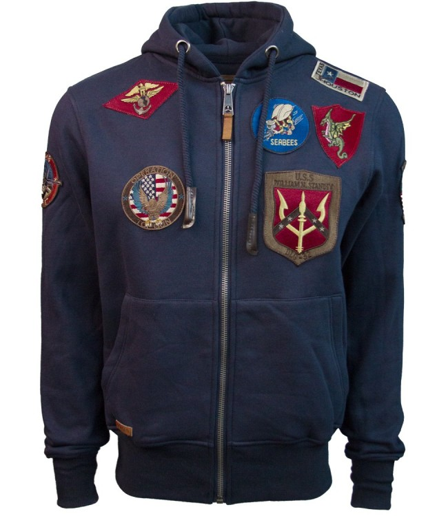 Реглан Top Gun Men's zip up hoodie with patches Navy