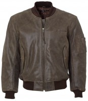 Шкіряна куртка Boeing MA-1 Leather Flight Jacket Brown