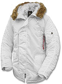 Куртка аляска Slim Fit N-3B Parka Alpha Industries White