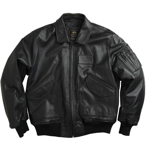 Куртка Leather CWU 45P Flight Jacket Black