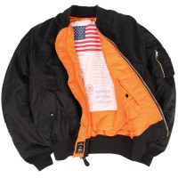 Куртка MA-1 BLOOD CHIT ALPHA INDUSTRIES Black