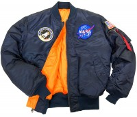Льотна куртка NASA MA-1 Flight Jacket Alpha Industries Replica Blue