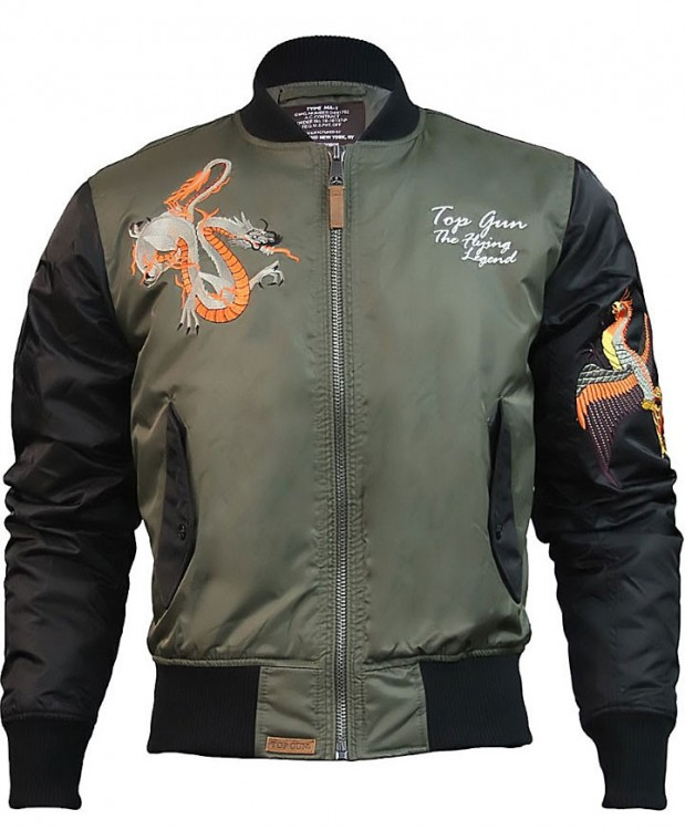 Куртка Top Gun The Flying Legend Bomber Jacket Olive