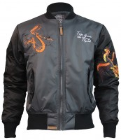 Куртка Top Gun The Flying Legend Bomber Jacket Charcoal