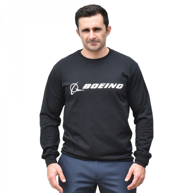 Реглан Boeing Long Slv Signature T-shirt Black