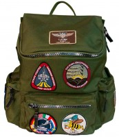 Рюкзак Top Gun backpack with patches Olive
