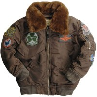 Дитяча куртка Boys Maverick Jacket Alpha Industries Cocoa