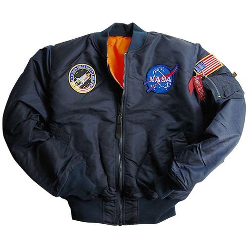 Дитяча куртка Youth NASA MA-1 Flight Jacket Alpha Industries Replica Blue