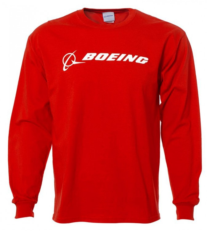 Реглан Boeing Long Slv Signature T-shirt Red