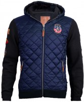 Куртка-реглан Top Gun Quilted Fleece Hoodie with Patches Blue