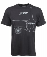 Футболка Boeing 737 Midnight Silver T-Shirt