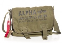 Сумка Alpha Industries Cargo Canvas Courier Bag (оливкова)