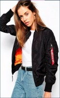 Жіноча куртка бомбер MA-1 W Flight Jacket Alpha Industries Black