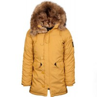 Жіноча куртка аляска Altitude W Parka Alpha Industries Tumbleweed Yellow