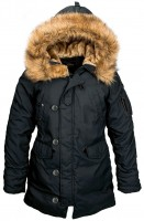 Жіноча куртка аляска Altitude W Parka Alpha Industries Black