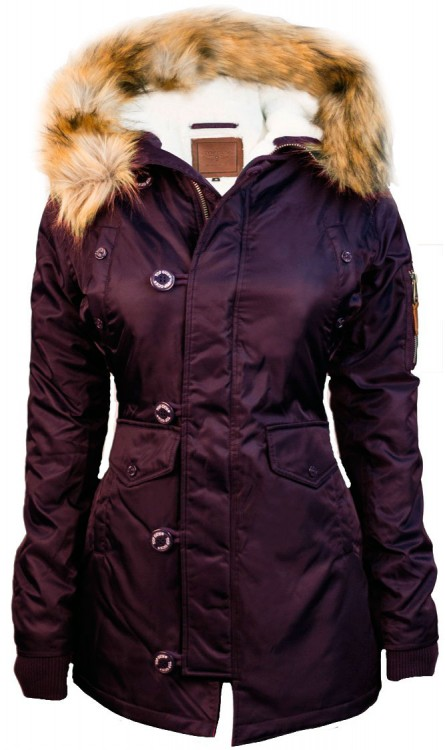 Жіноча аляска Miss Top Gun Fitted Nylon N-3B Parka Burgundy