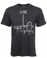 Boeing F-15E Strike Eagle Midnight Silver T-Shirt