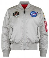 Куртка Alpha Industries Apollo MA-1 Flight Jacket (сіра)