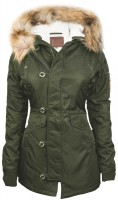 Жіноча аляска Miss Top Gun Fitted Nylon N-3B Parka Olive