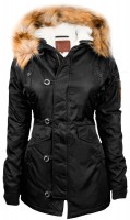 Жіноча аляска Miss Top Gun Fitted Nylon N-3B Parka Black